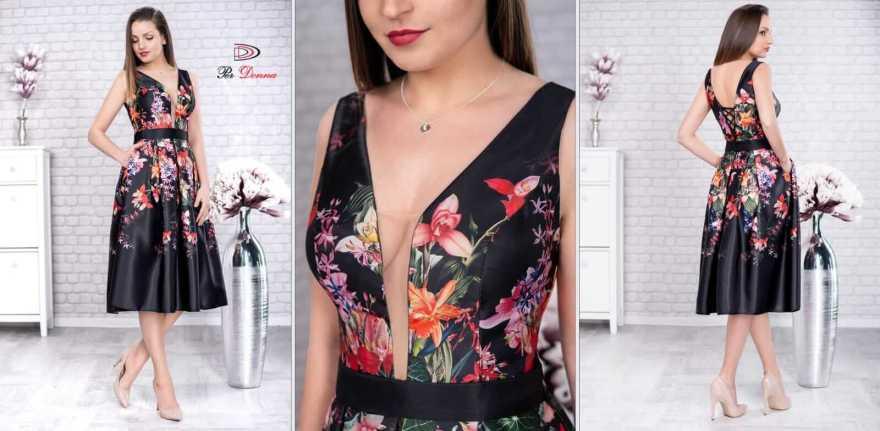 Rochie eleganta de seara din tafta Luana negru